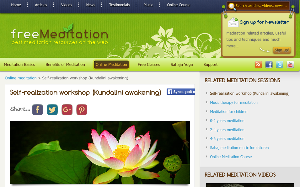 Kundalini awakening – online meditation